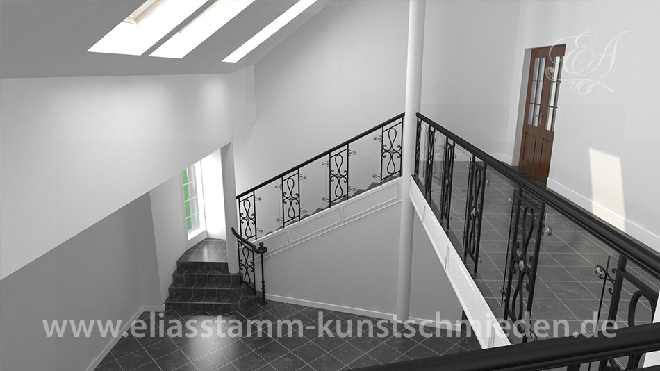 exklusive geschmiedete treppen in handarbeit aus natur stahl. Black Bedroom Furniture Sets. Home Design Ideas