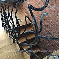 Treppengelaender schmiedeeisen Messing