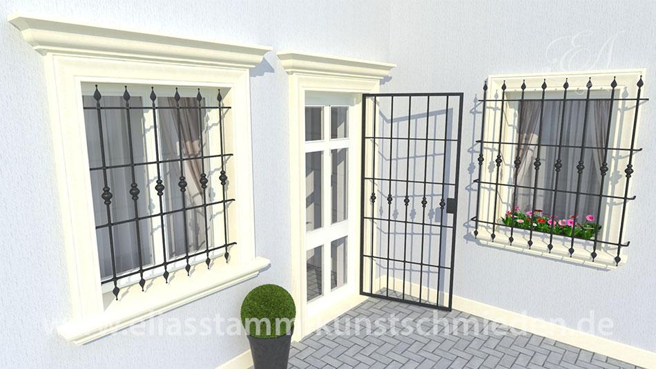 geschmiedete Fenstergitter Model Standart