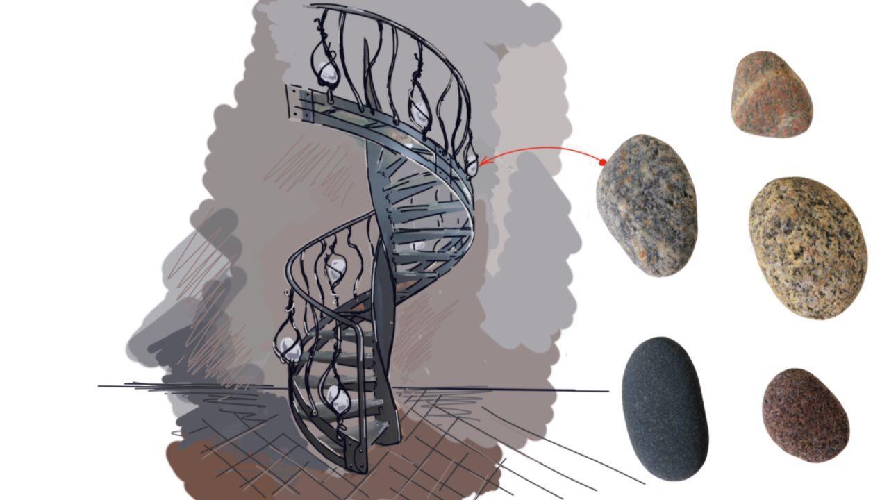Moderne Wendeltreppen aus Stahl
