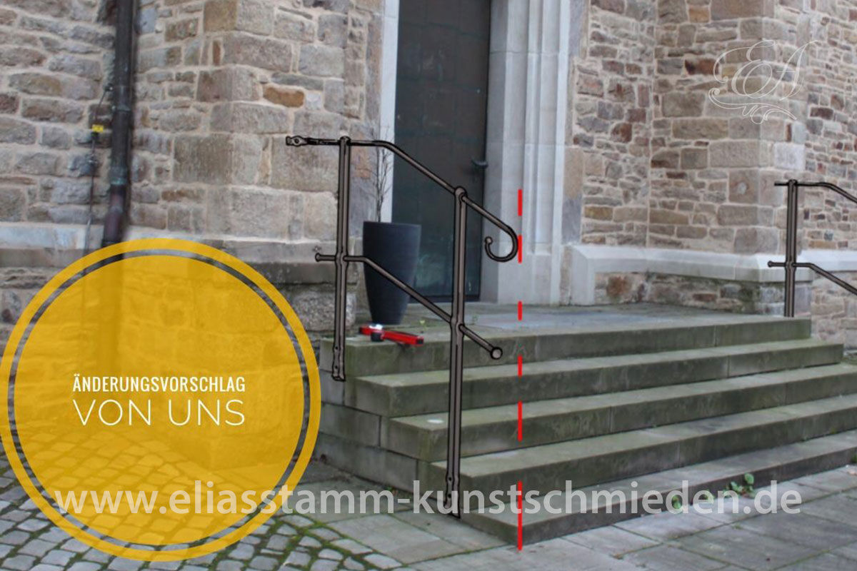 entwurf aussengelaender st mauritius kirche 03