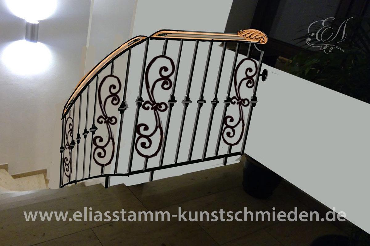 skizze treppe